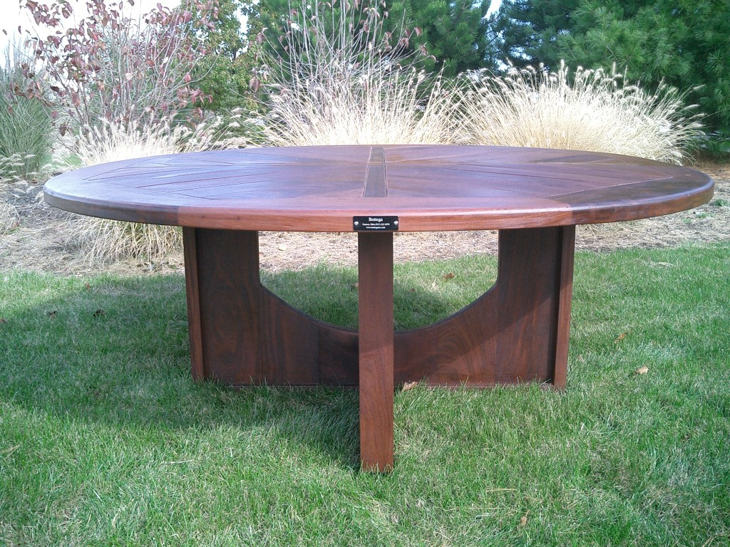 72 Quot Round Ipe Dining Table Bottega Handmade Outdoor