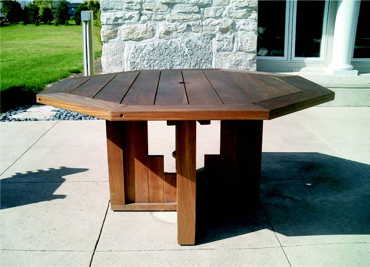 52 Octagonal Dining Table Bottega Handmade Outdoor Furniture Of Exceptional Design Elegance And Quality