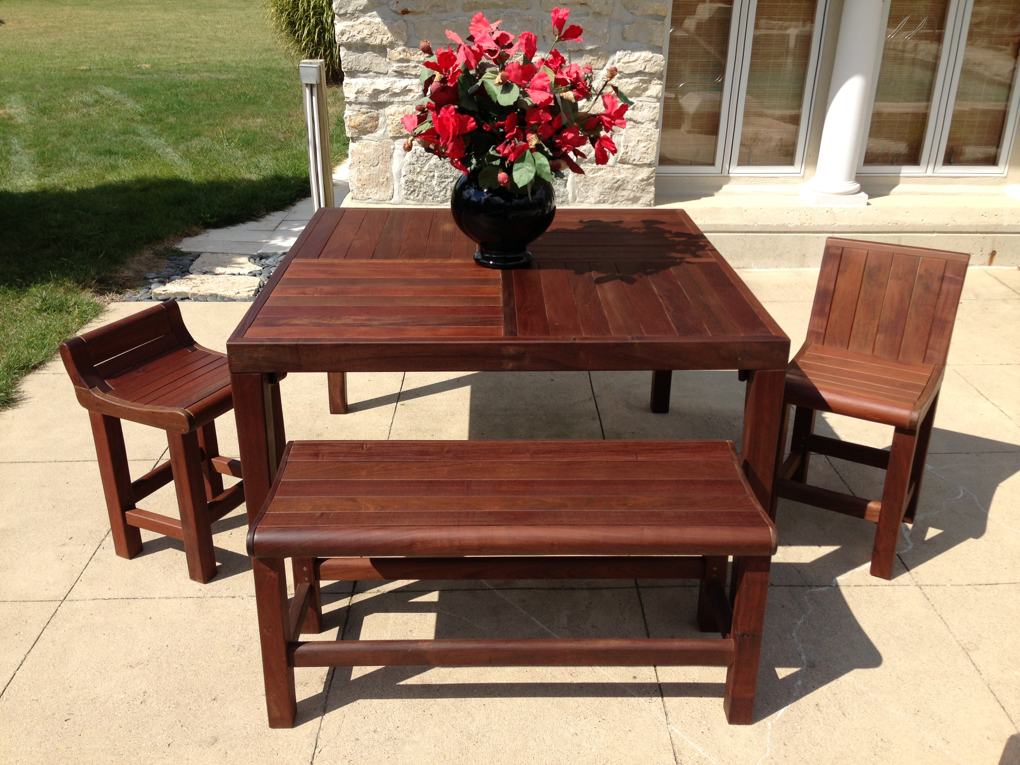 The Palladino Series: counter height tables and chairs.